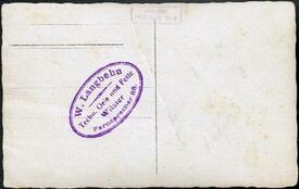 Firmenstempel Mechanker Willi Langbehn, Wilster