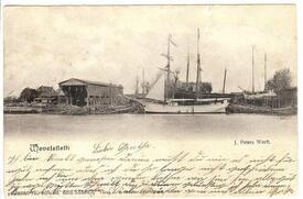 1904 Peters Werft an der Stör in Wewelsfleth in der Wilstermarsch